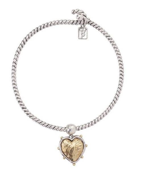 Sterling Silver-Brass Blessings Bracelet by Waxing Poetic