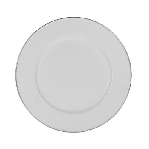 Set of 4 - White Dinner Plate by Golden Rabbit