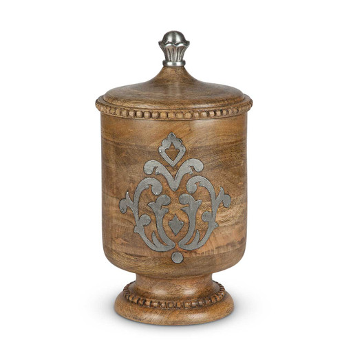 Heritage Wood & Metal Medium Canister - GG Collection