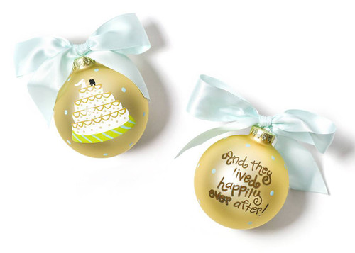 Wedding Cake Glass Ornament by Happy Everything!
