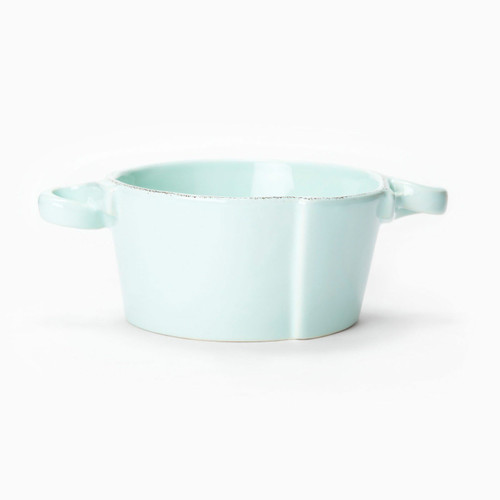Vietri Lastra Aqua Small Handled Bowl - Special Order