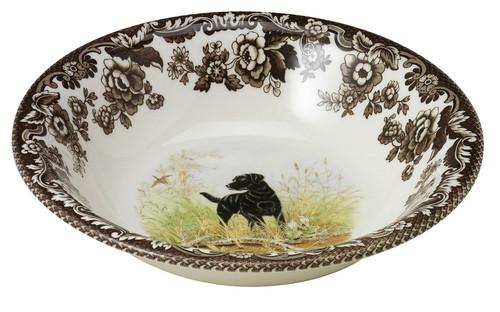 Woodland Black Labrador Retriever Ascot Cereal Bowl by Spode - Special Order