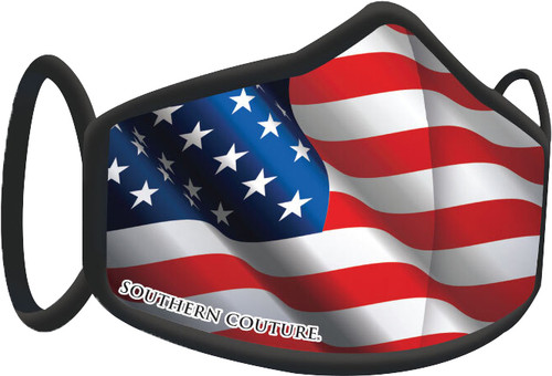Southern Couture American Flag Face Mask By Couture Tee  Company
