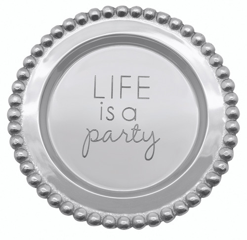"""""""Life is a Party"""" Wine Plate by Mariposa - Special Order"""