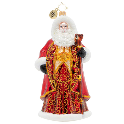Crimson-Clad Santa Ornament by Christopher Radko