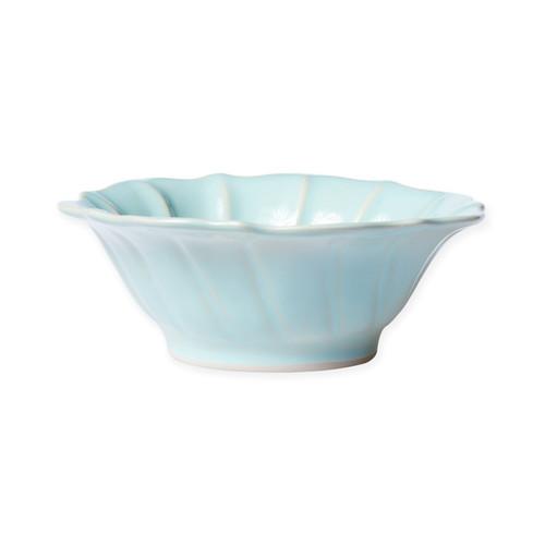 Vietri Incanto Stone Aqua Ruffle Cereal Bowl - Special Order