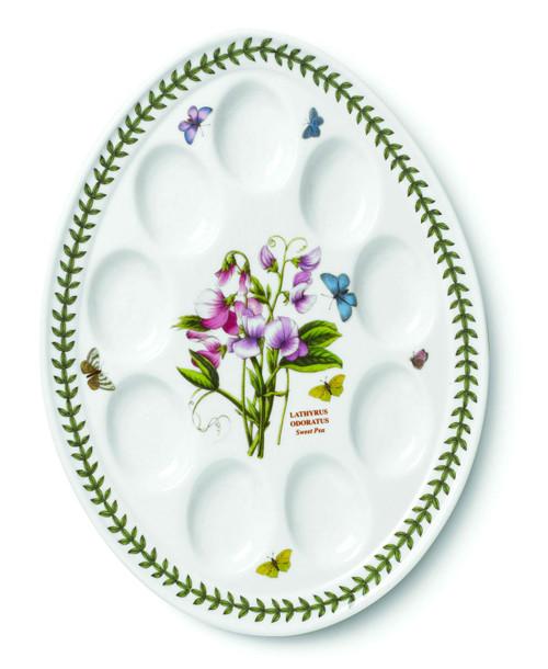 Botanic Garden Sweet Pea Motif Devilled Egg Plate by Portmeirion - Special Order