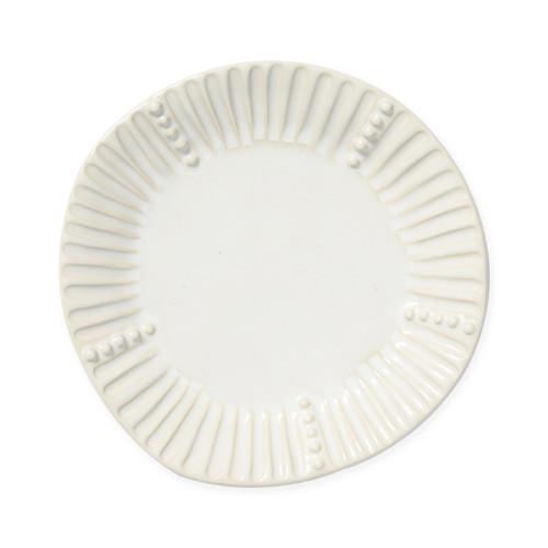 Vietri Incanto Stone Linen Stripe Salad Plate