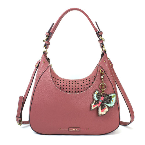 Rose New Butterfly Sweet Hobo Tote by Chala