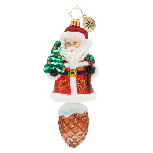 Into The Woods Santa Ornament by Christopher Radko
