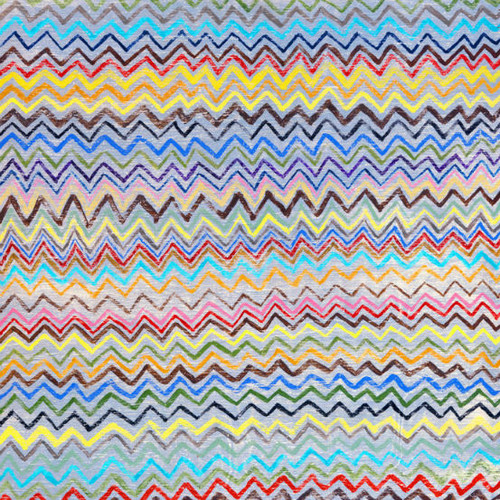 """24"""" x 24"""" Zig Zag Art Print by Sugarboo Designs - Special Order"""