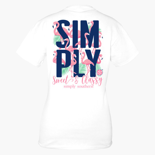 Small White Simply Short Sleeve Tee by Simply Southern