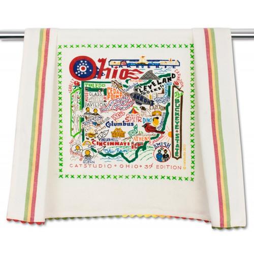 Ohio Dish Towel by Catstudio