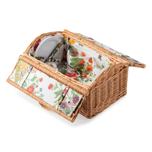 Picnic Basket with Field of Flowers Lining - Berry & Thread Set  by Juliska - Special Order