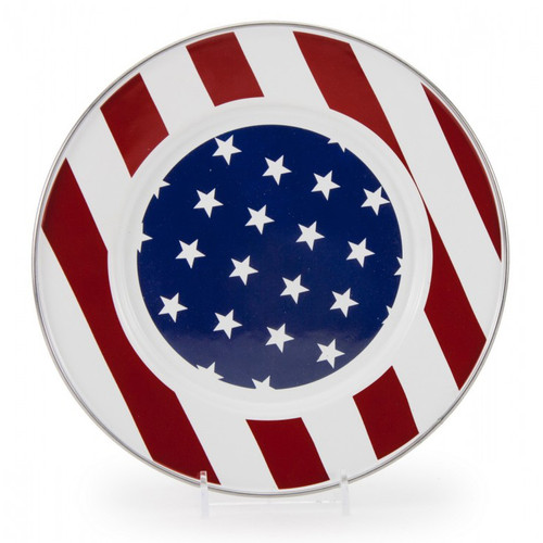 Set of 2 - Stars & Stripes Charger by Golden Rabbit - Special Order