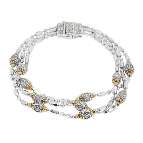 Pave Triple Strand Beaded Bracelet - John Medeiros