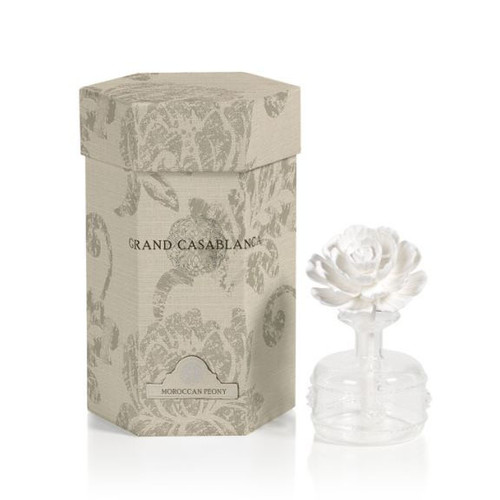 Moroccan Peony 1.7 oz. Mini Grand Casablanca Porcelain Diffuser by Zodax