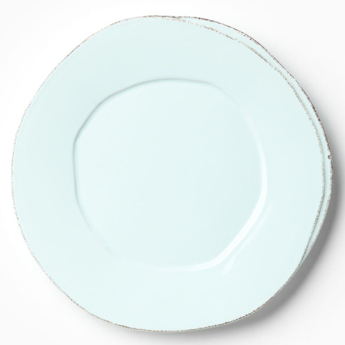 Vietri Lastra Aqua American Dinner Plate - Special Order