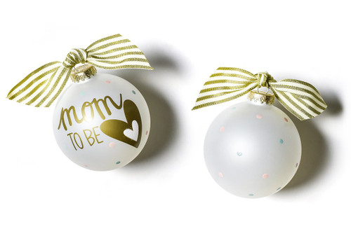 Mom to Be Glass Ornament by Happy Everything!