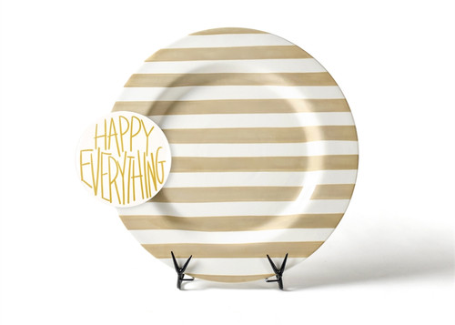 Neutral Stripe Big Entertaining Platter with Happy Everything! Big Attachment by Happy Everything!