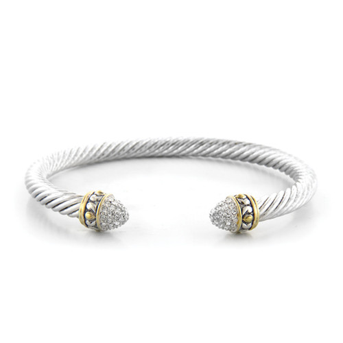 Pave Small Wire Cuff - John Medeiros