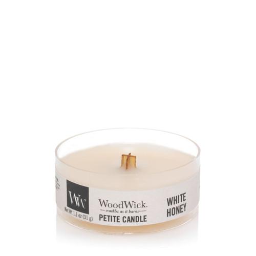 White Honey Petite WoodWick Candle