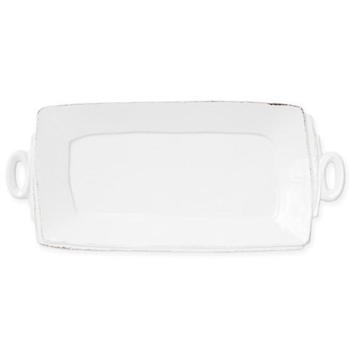 Vietri Lastra Linen Handled Rectangular Platter - Special Order