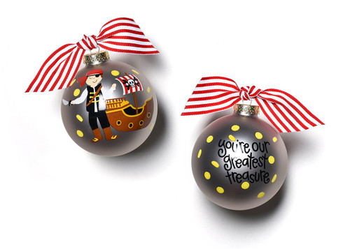 Pirate Glass Ornament by Happy Everything!