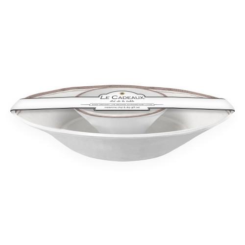 Rustica Antique White Chip & Dip Set by Le Cadeaux