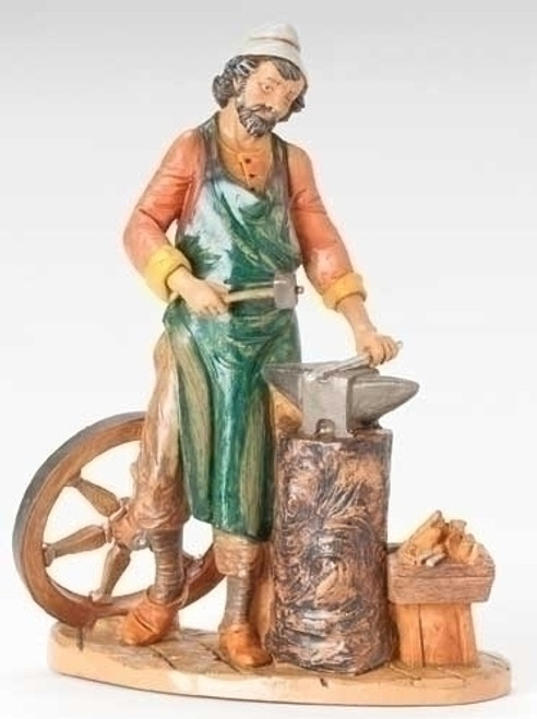 """12"""" Orion the Blacksmith Figure - Fontanini - Special Order"""