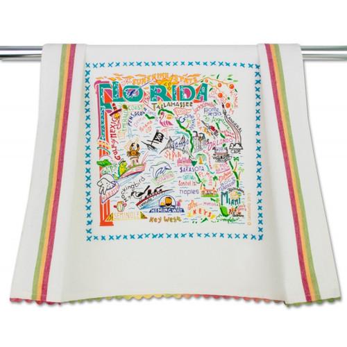 Florida Dish Towel by Catstudio