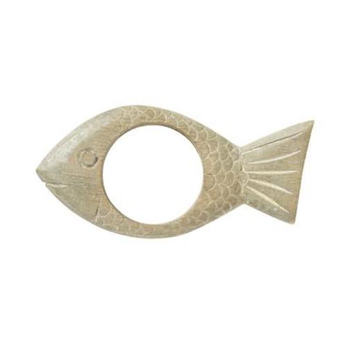 Wooden Fish Napkin Ring by Juliska