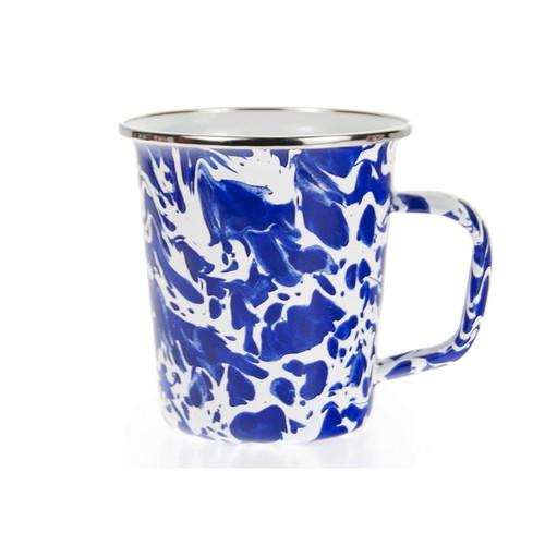 Set of 4 - Cobalt Swirl 16 oz. Latte Mug by Golden Rabbit - Special Order