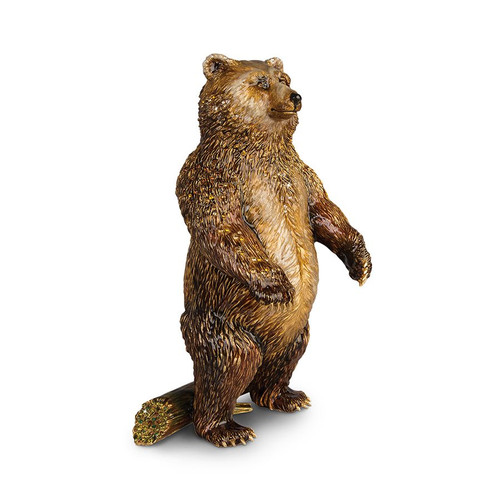 Jay Strongwater Woodrow Bear Figurine - Special Order