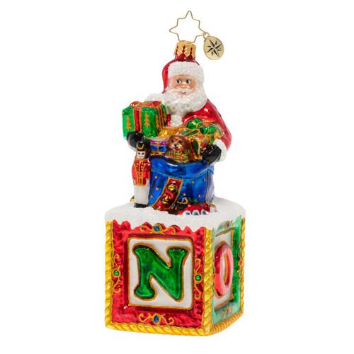 Noel Santa Ornament by Christopher Radko