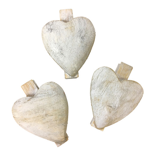 Wooden Heart Clips by Sugarboo Designs