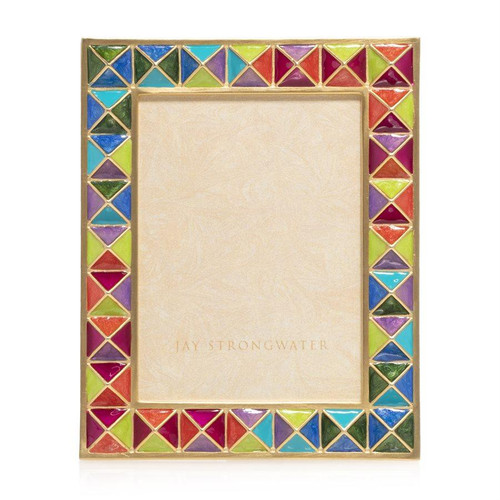 Jay Strongwater Abaculus Pyramid 3 x 4 Frame in Rainbow - Special Order