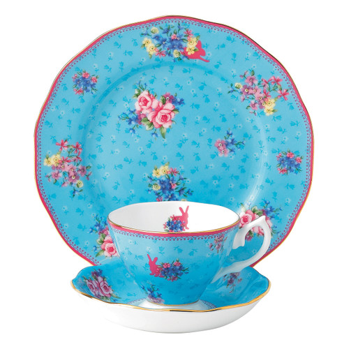 Candy Honey Bunny 3-Piece Teacup Set by Royal Albert - Special Order ( Available April 2020)