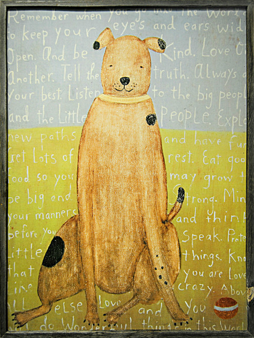 """36"""" x 48"""" Large Brown Boy Dog Art Print by Sugarboo Designs - Special Order"""