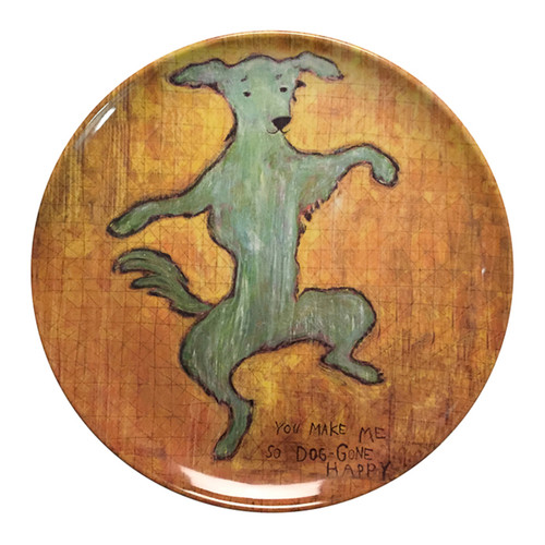 """10"""" Dancing Dog Melamine Plates (Set of 4) by Sugarboo Designs - Special Order"""