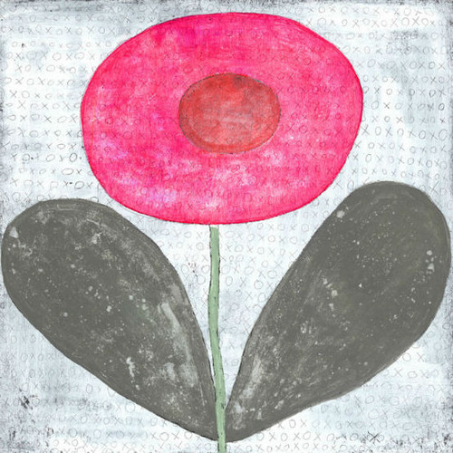 """36"""" x 36"""" Happy Flower Art Print by Sugarboo Designs - Special Order"""