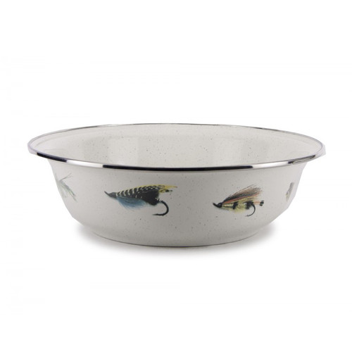 Fishing Fly Serving Bowl by Golden Rabbit - Special Order