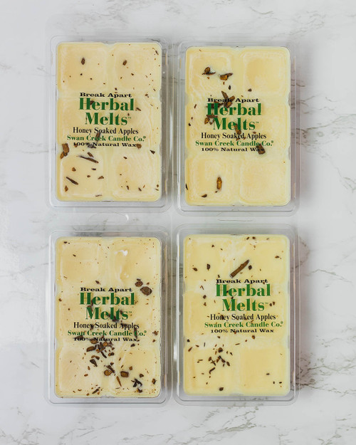 Honey Soaked Apples 5.25oz Swan Creek Candle Drizzle Melts 4-Pack