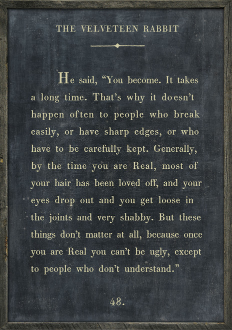 """36"""" X 48"""" Charcoal The Velveteen Rabbit Book Collection Print by Sugarboo Designs - Special Order"""