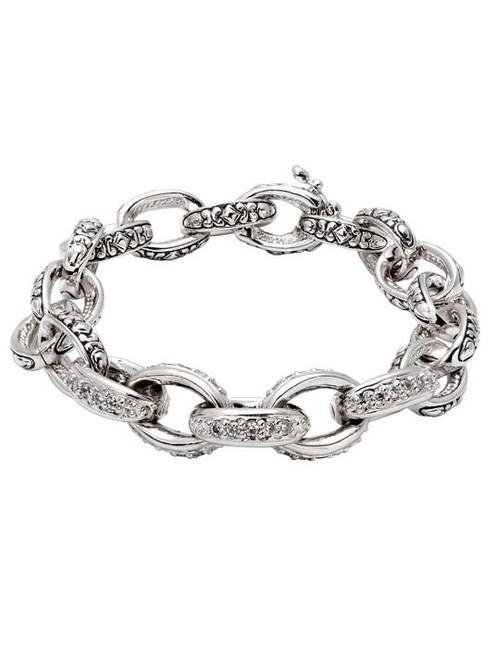 Pave Oval Link Bracelet by John Medeiros