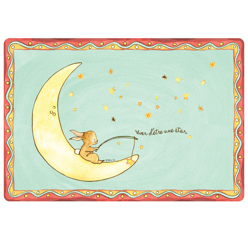 """Wish on a Star Anti-Slip 17"""" x 11.5"""" Placemat by Baby Cie"""