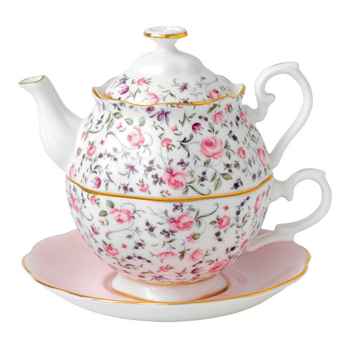 Rose Confetti Tea For One by Royal Albert
