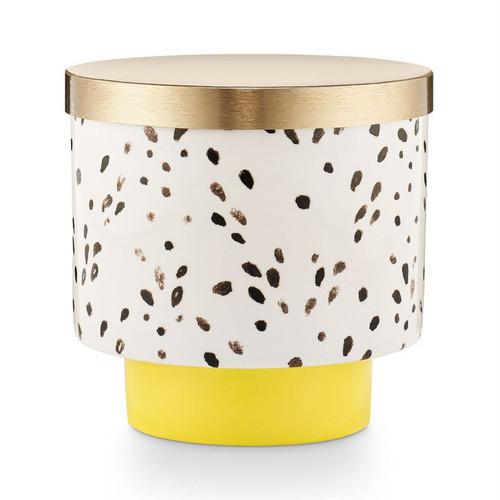 Golden Honeysuckle Go Be Lovely Lidded Ceramic Illume Candle