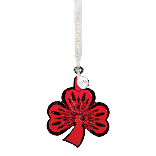 Shamrock Ornament Red by Waterford