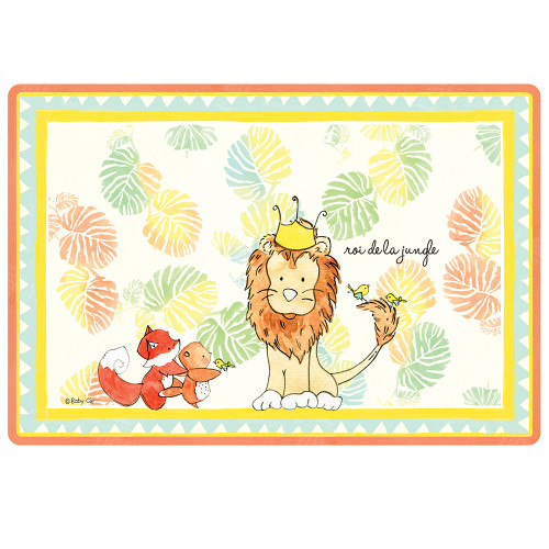 """King of the Jungle Anti-Slip 17"""" x 11.5"""" Placemat by Baby Cie"""